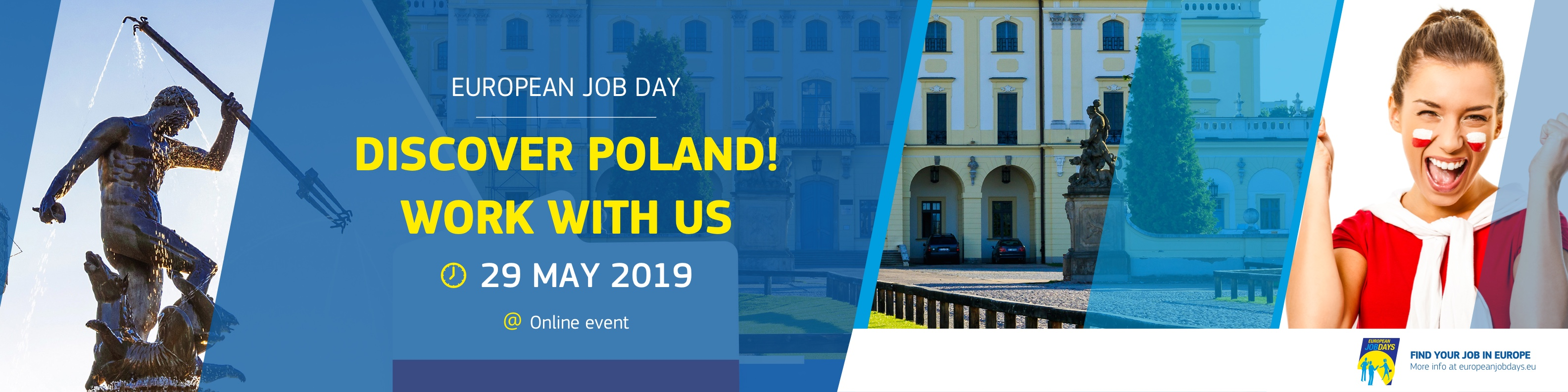 banner targów pracy: Discover Poland! Work with us